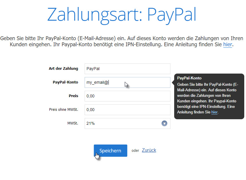 paypal als zahlungsmethode