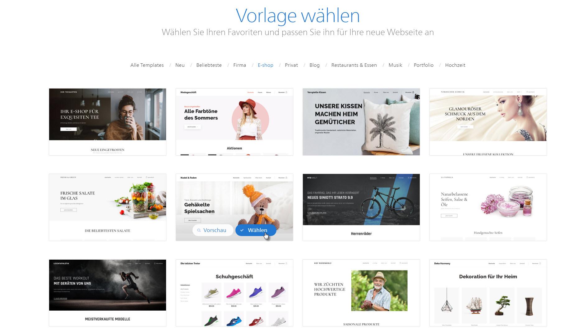 webnode einen online shop erstellen. Black Bedroom Furniture Sets. Home Design Ideas