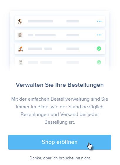Online-Shop zur Webseite hinzufügen