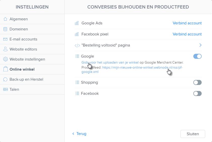 Hoe kan ik Producten Exporteren naar Prijsvergelijkingswebsites
