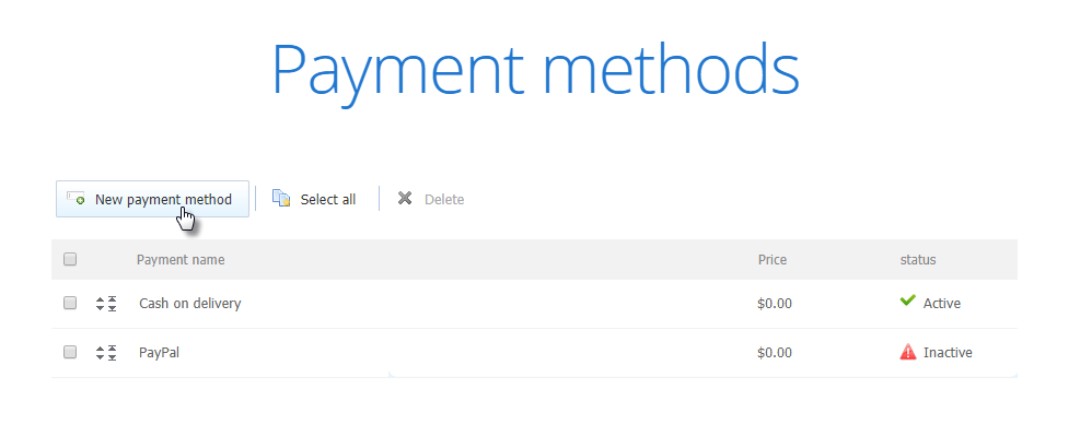 add payment method