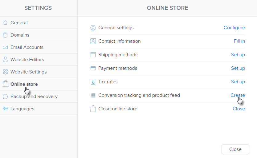 Conversion Tracking and Product Feed