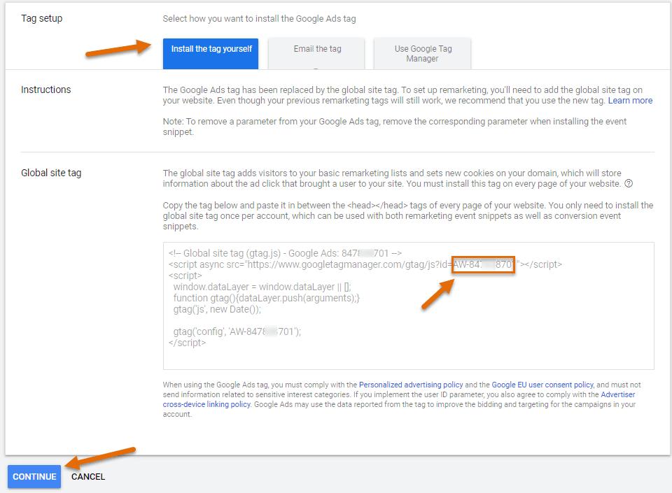 Como usar Google Ads no site Webnode