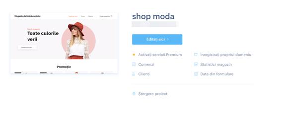 Administrarea magazinului online