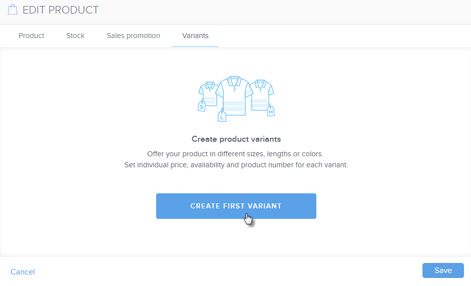 How to Add Product Variants