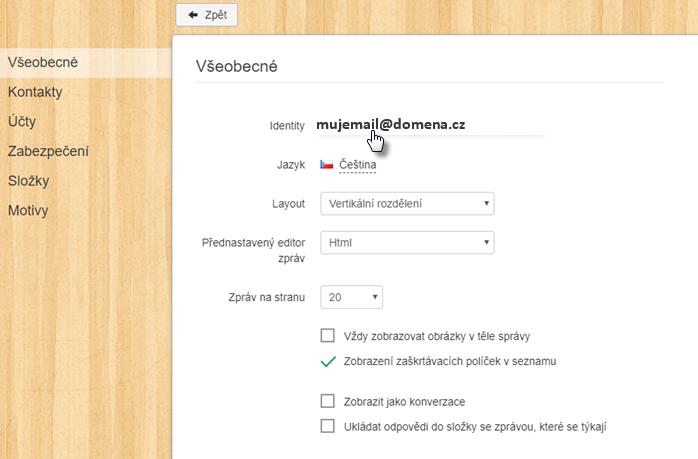Přidat automatický podpis