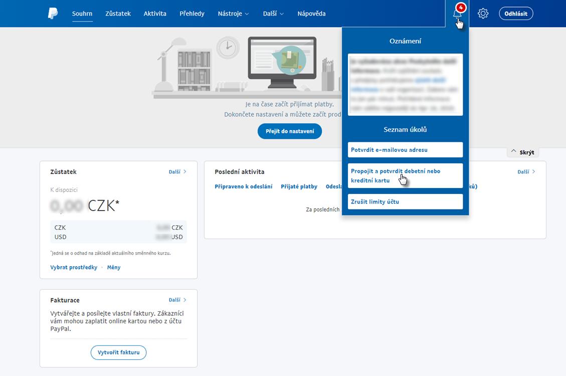 Jak založit PayPal business účet