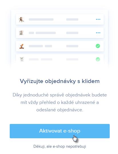 Aktivovat Webnode e-shop