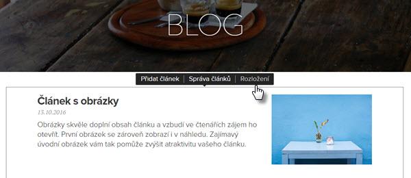 Jak vložit blog