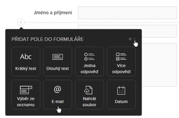 Jak vložit kontaktní formulář