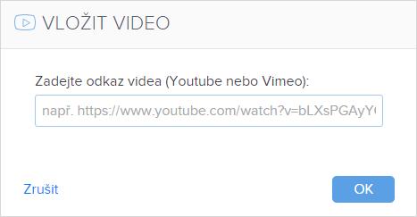 Jak vložit video