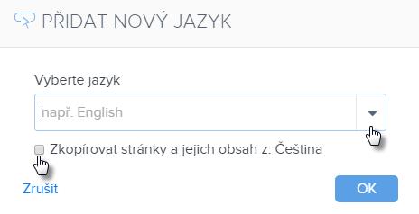 Jak vložit novou jazykovou verzi