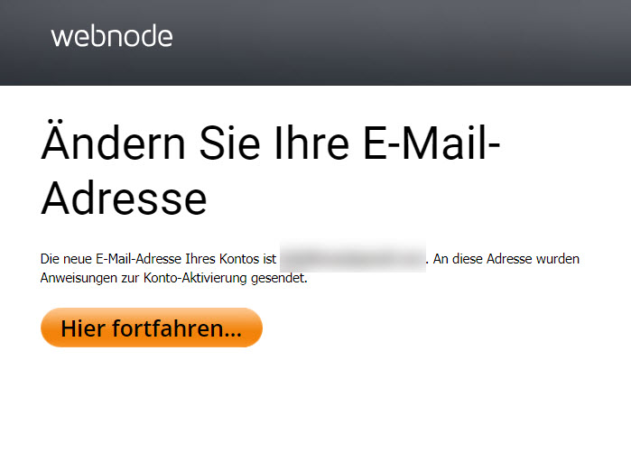 E-Mail Adresse ändern