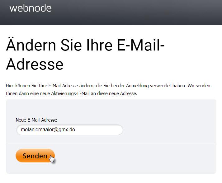 E-Mail ändern
