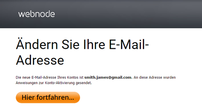 konto email ändern