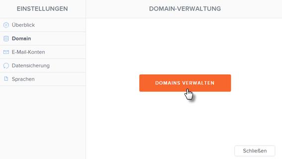 Domains verwalten