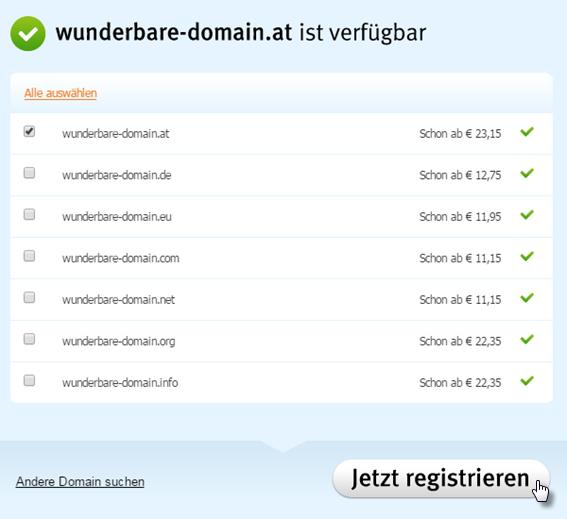 Domain registrieren