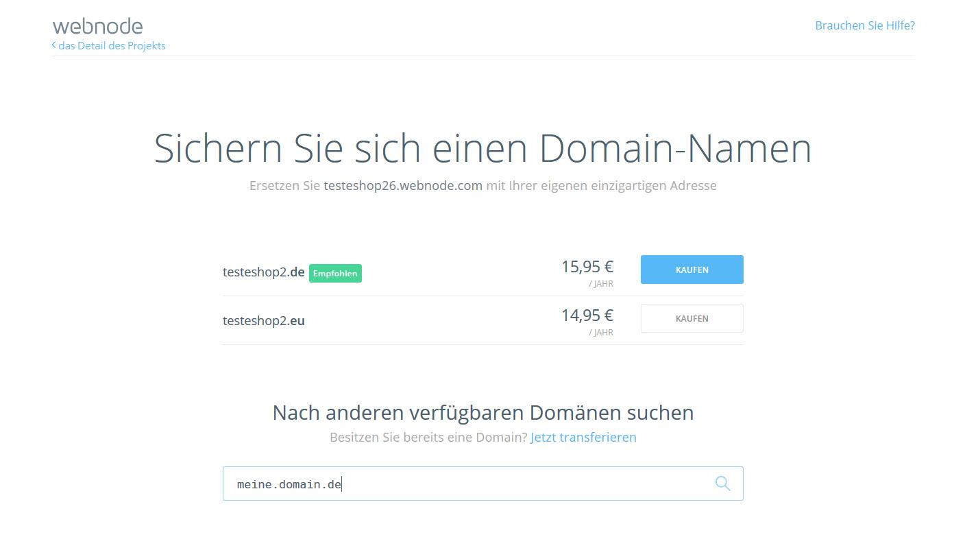 eine Domain registrieren