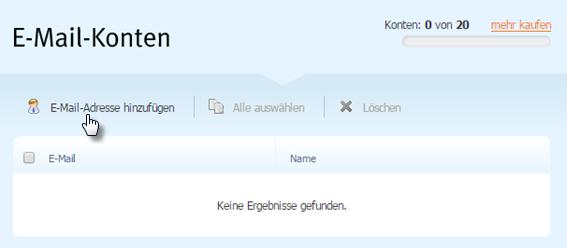 E-Mail-Adresse hinzufügen