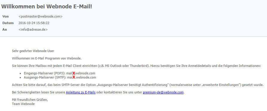 E-Mail Konfiguration für iPhone