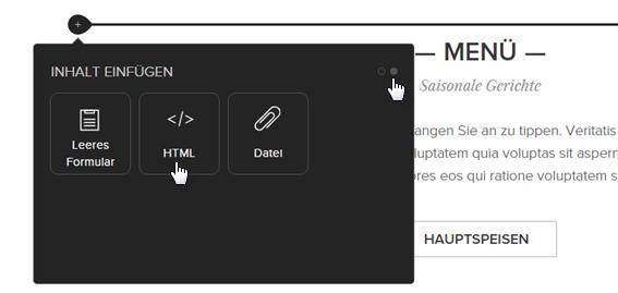 HTML einfügen