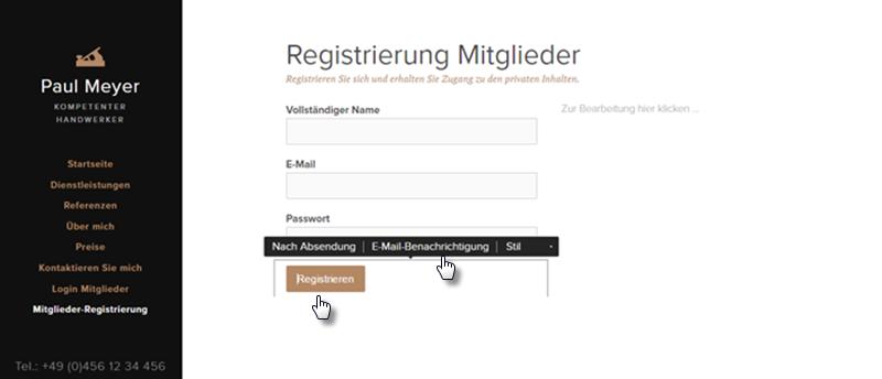 Wie kann man Mitglieder Registrierung hinzufügen