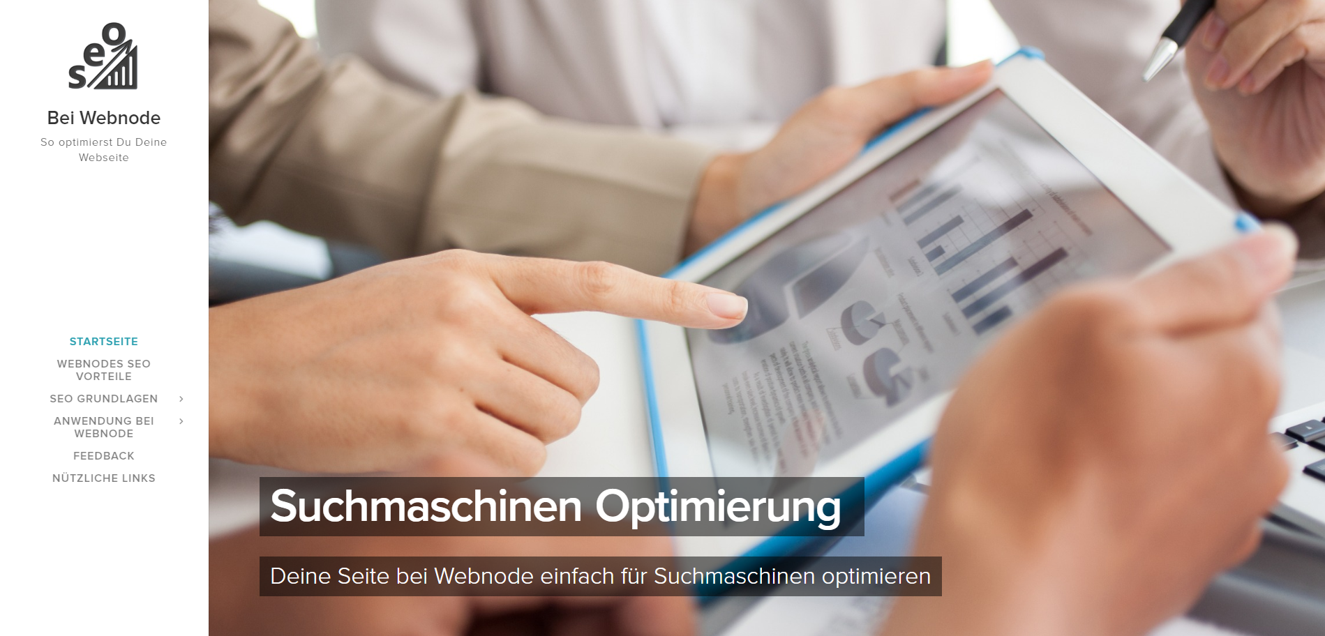 Anleitung zur SEO bei Webnode