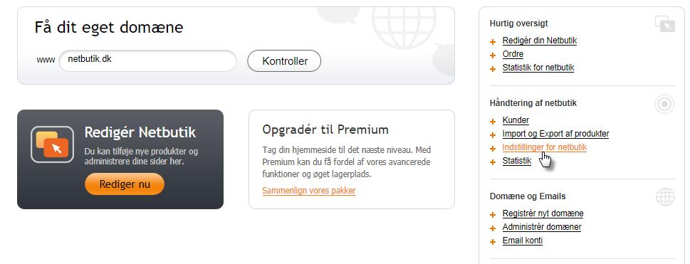 Oprette Paypal betalingsportal