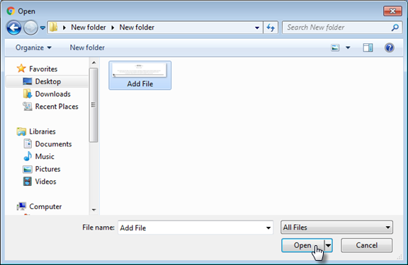 How to Add a File