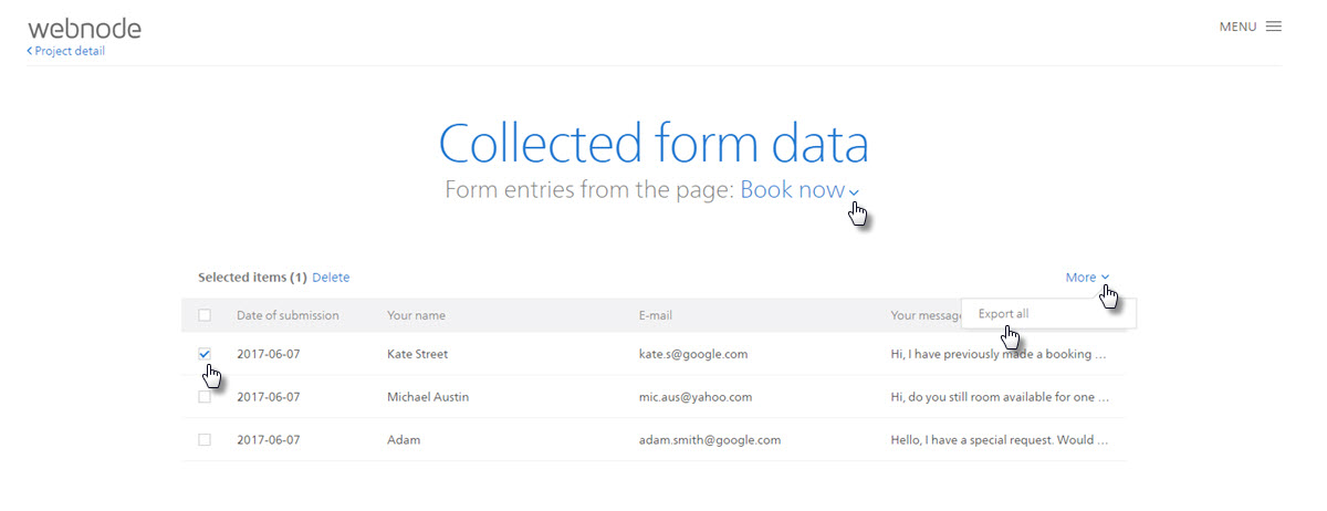 How to Export Form Data