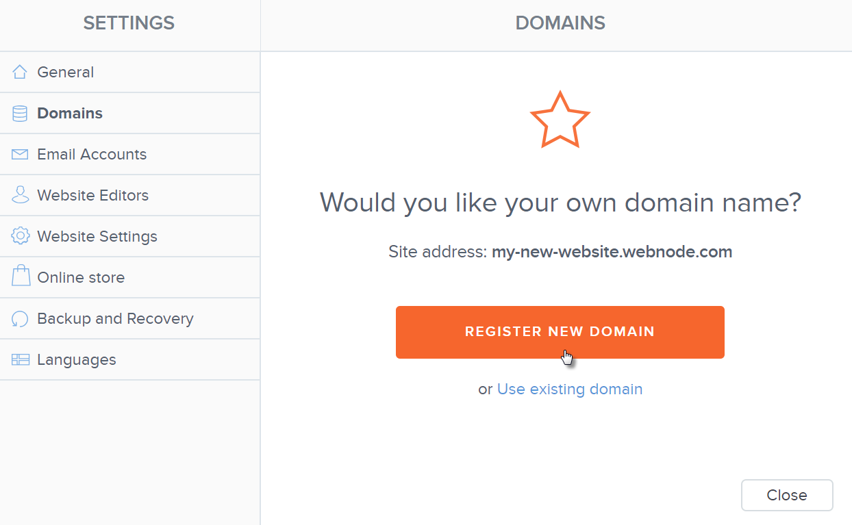 Webnode How To Register Your Own Domain
