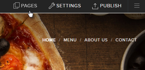 How to hide pages from menu