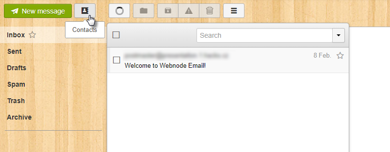 Import Contacts to webmail