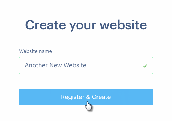 Create Another Website