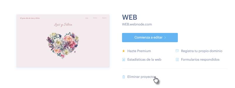 Cómo eliminar la web