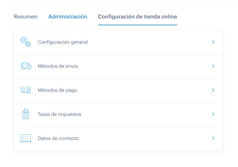 Nueva Administración Webnode