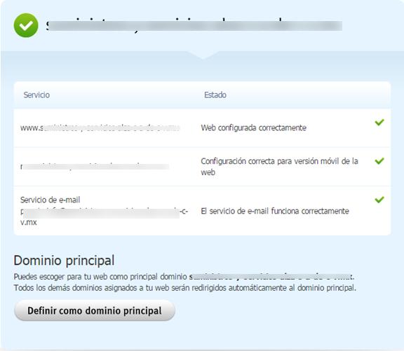 Cómo configurar el dominio principal