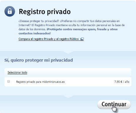 Cómo registrar el dominio