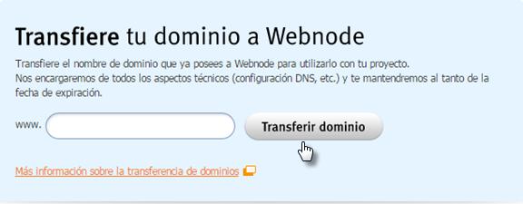 Cómo transferir el dominio