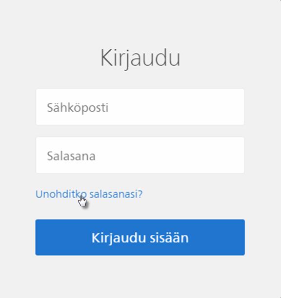 Kuinka palautan salasanani