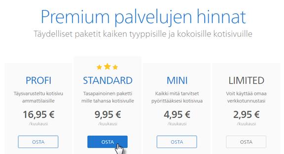 Kuinka hankin Premium palveluita