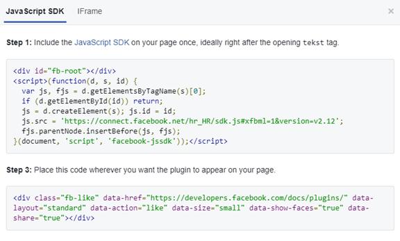 Kako dodati Facebook Widget