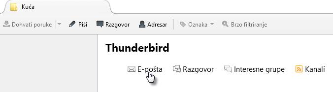 Dodavanje Webnode e-mail adrese u Mozilla Thunderbird