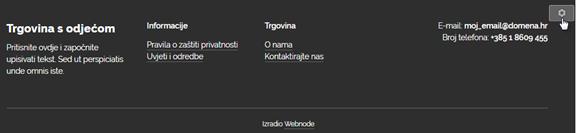 Kako koristiti Webnode editor