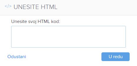 Kako dodati HTML kod