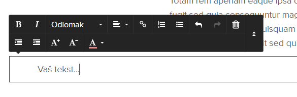 Kako dodati tekst