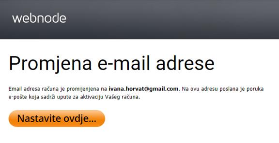 Kako promijeniti e-mail adresu prijave