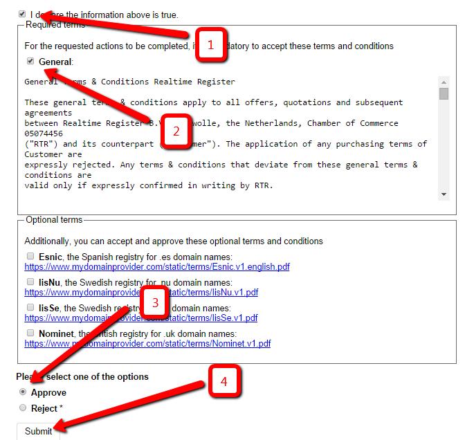 A .com, .net, .org, .info, .biz és .es domainek regisztrációja
