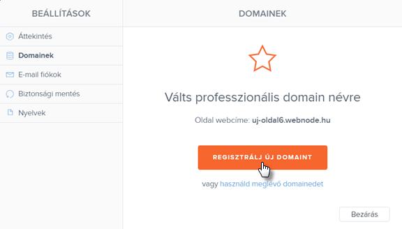 Hogyan regisztrálj domaint