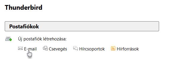 A Webnode postafiók hozzáadása Mozilla Thunderbird rendszerhez